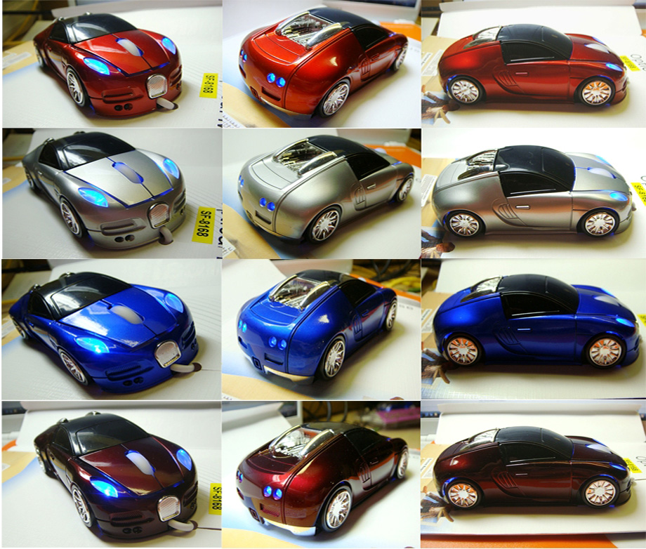 3d bugatti veyron top sport car shape optical usb mouse ebay. Black Bedroom Furniture Sets. Home Design Ideas